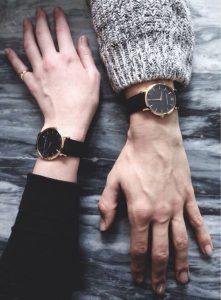 Reloj pulsera de piel